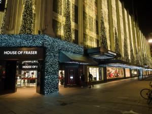 Lit up for Christmas in November; Oxford Street