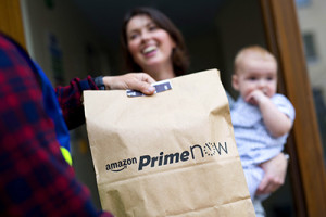 Amazon Prime Now launched in London, UK ©Vicki Couchman/UNP 0845 600 7737