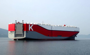 K-line ro-ro vessel for Teesport