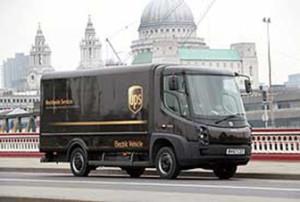 UPS van London w336
