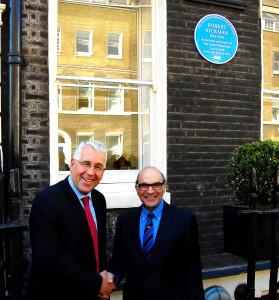 David Suchet, right, and Peter Ward.