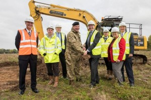 Defence minister Philip Dunne launches construction at Donnington.