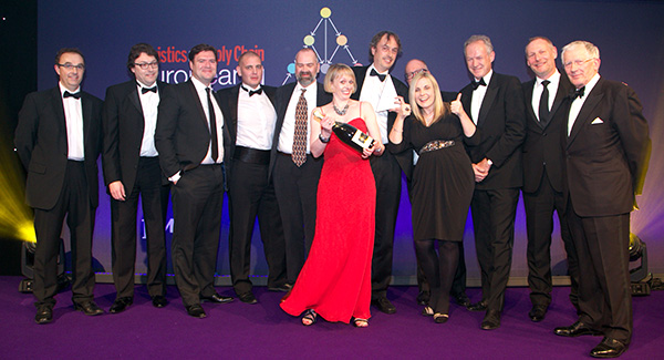Waterstones with UTL, overall winner in the 2015 European Supply Chain Excellence Awards.