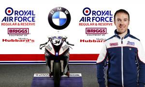2015 British Superbike Championship, BSB R02, Brands Hatch, Kent. 18th April 2015. Peter Hickman, Louth, RAF Reserves BMW Pit Box