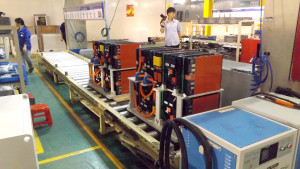 Battery packs are assembled according to specification of the truck.