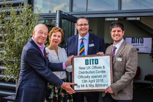 Mr and Mrs Bittman with Edward Hutchison and Jason Austin of Bito UK.