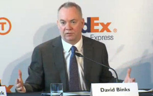 David Binks, president of FedEx Express Europe, will take over as CEO of TNT Express.