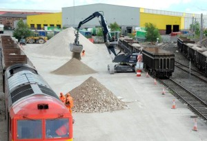 Pop-up rail depot from DB Cargo and Cemex