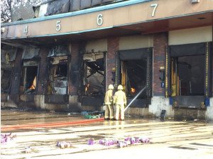 Fire at Morrisons' Bakery