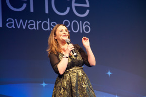 Lucy Porter, host of this year's 20th Anniversary Supply Chain Excellence Awards.