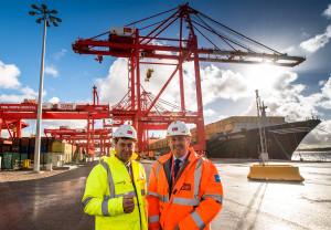 Peel Ports CEO Mark Whitworth (left) with Liam Fox MP.