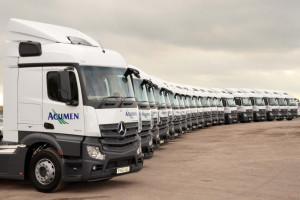 acumen expands its fleet with new mercedes trucks