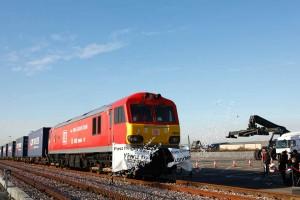 China train arrives at Barking