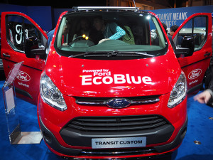 The Ford stand at the CV show in Birmingham.