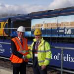 John Smith managing director, GB Railfreight and Dan Everitt, managing director, Mediterranean Shipping Company UK