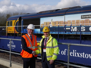 John Smith managing director, GB Railfreight and Dan Everitt, managing director, Mediterranean Shipping Company UK