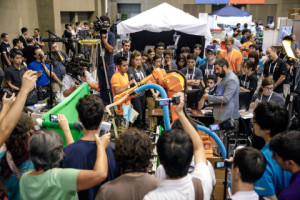 Scenes from the third annual Amazon Robotics Challenge, held in conjunction with RoboCup, photographed Friday, July 28, in Nagoya, Japan. (JORDAN STEAD / Amazon)
