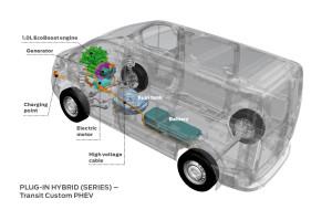 Ford Transit Plug-in Hybrid Van Makes Dynamic Debut Ahead of '